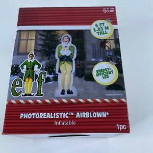 Gemmy-Photorealistic-Airblown-Inflatable-The-Buddy-ElF-6-Ft-Christmas-NIB-LED