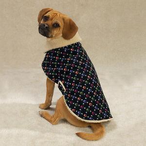 Casual-Canine-Corduroy-Berber-Lined-Paw-Print-Dog-Coat-Jacket-LIMITED-SIZES