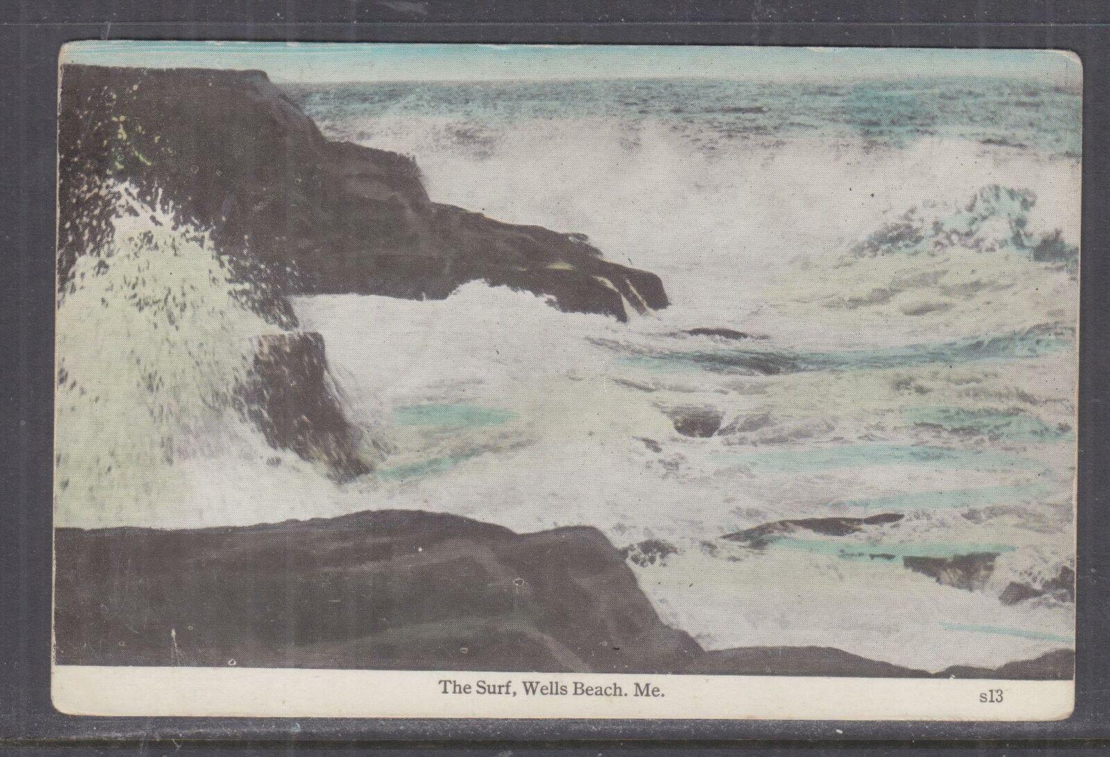 UNITED STATES, 1934 ppc. Wells Beach, Maine, 1c Wells, Maine to Worcestor, Mass