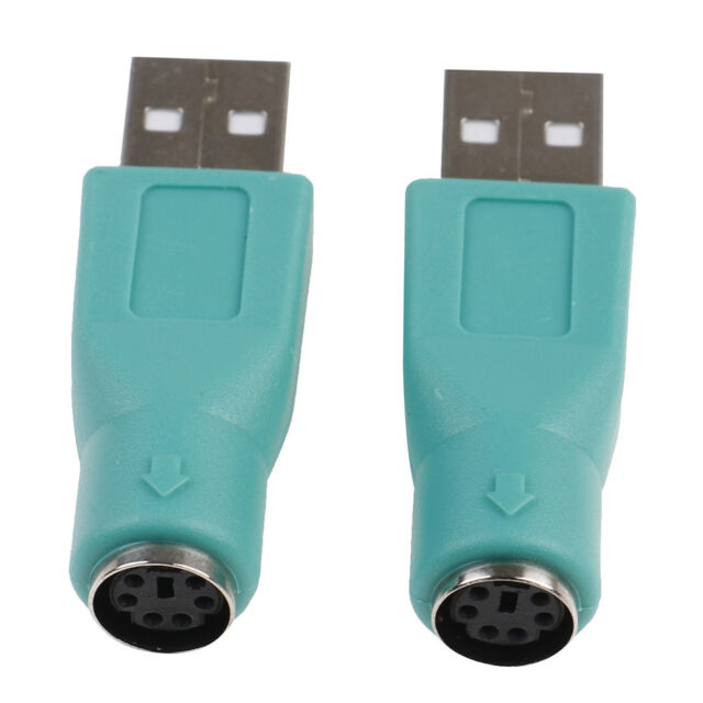 2PCS PS//2 Female to USB Male Adapters Converter For PC Computer Keyboard Mouse A
