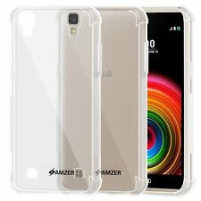 AMZER Pudding TPU X Protection Case Back Cover For LG X Power K220 LGK210 -Clear