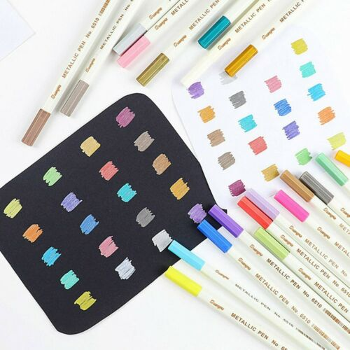 Farbmarker Acrylstifte Marker Pinselstift Brush Pen Set 20 Farben Marker Stifte