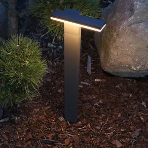 Details Zu Design Led Standleuchte Aussen Anthrazit Wegbeleuchtung Gartenlampe Stehlampe