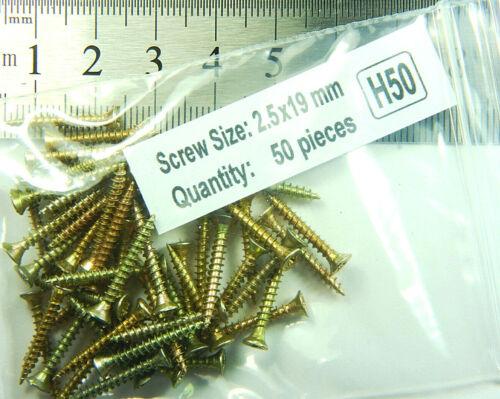 2.5 mm x 19 mm Small Mini SCREWS Pozi Countersunk Fully Threaded  Series H