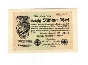 XXX-Rare-genuine-20-Million-Mark-weimar-inflation-banknote-1923-unc