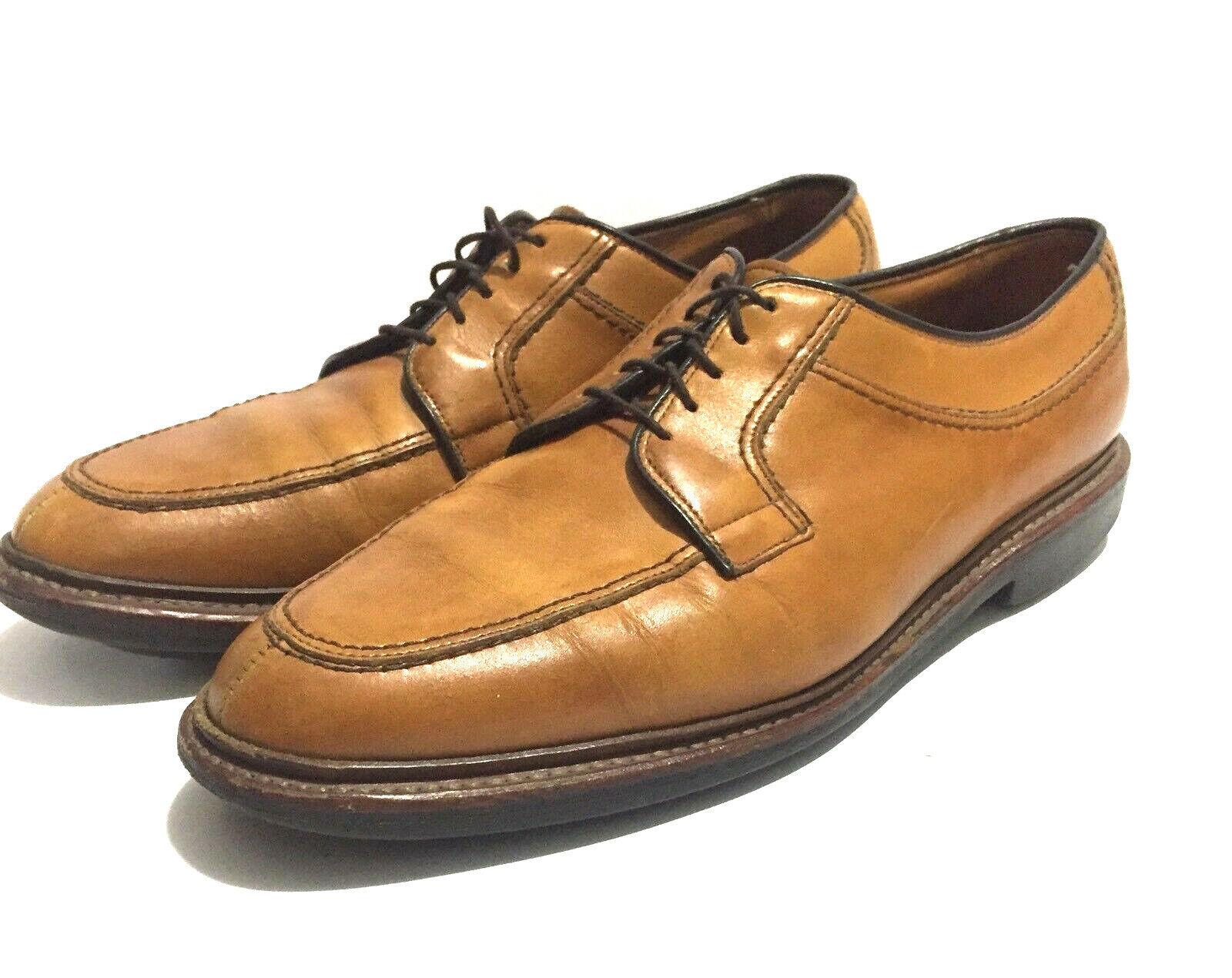 ALLEN EDMONDS Norse Walnut Brown Leather Split Toe Derby Oxford shoes USA- 9.5 D