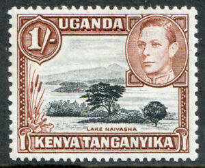 Kenya-Uganda-and-Tanganyika-KGVI-1938-1s-1-Yellow-Brown-SG145-Mint-MNH