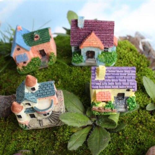 KE/_ HK JF/_ FP Mini House Miniature House Fairy Garden Micro Landscape Home D