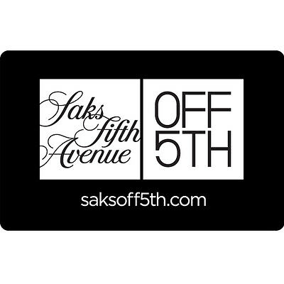 Saks Fifth Avenue OFF 5TH Gift Card - $25 $50 or $100 - Email delivery