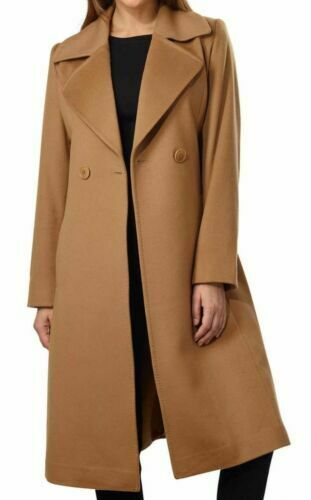 George Simonton Couture Kvinners New Belted 8 Wrap Cashmere Long Tan Coat BFd5qa