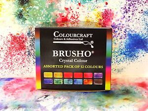 Brusho® 12 x 15g Starter set Non Toxic ***+FREE WAX RESIST STICKS!!!*** 5060133850007