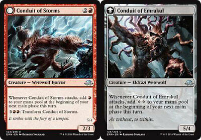 Werewolf Horror Unc 4 x CONDUIT OF STORMS NM mtg Eldritch Moon Red