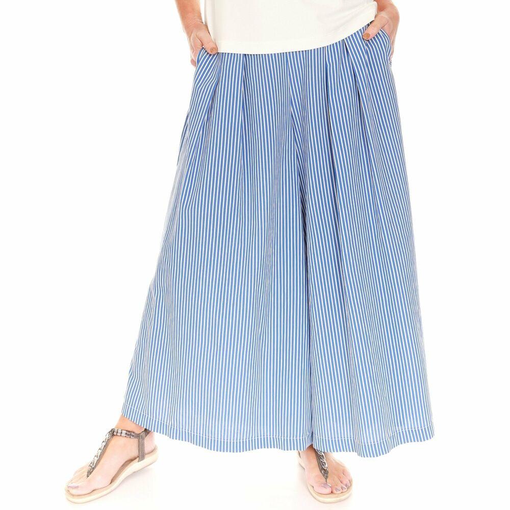 Latte Bleu Et Blanc Culottes Go5015