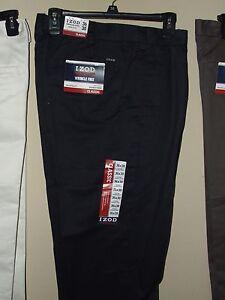 NWT IZOD 38x29 Navy Blue Dress Pants Chino Double Pleat Classic Wrinkle Khakis