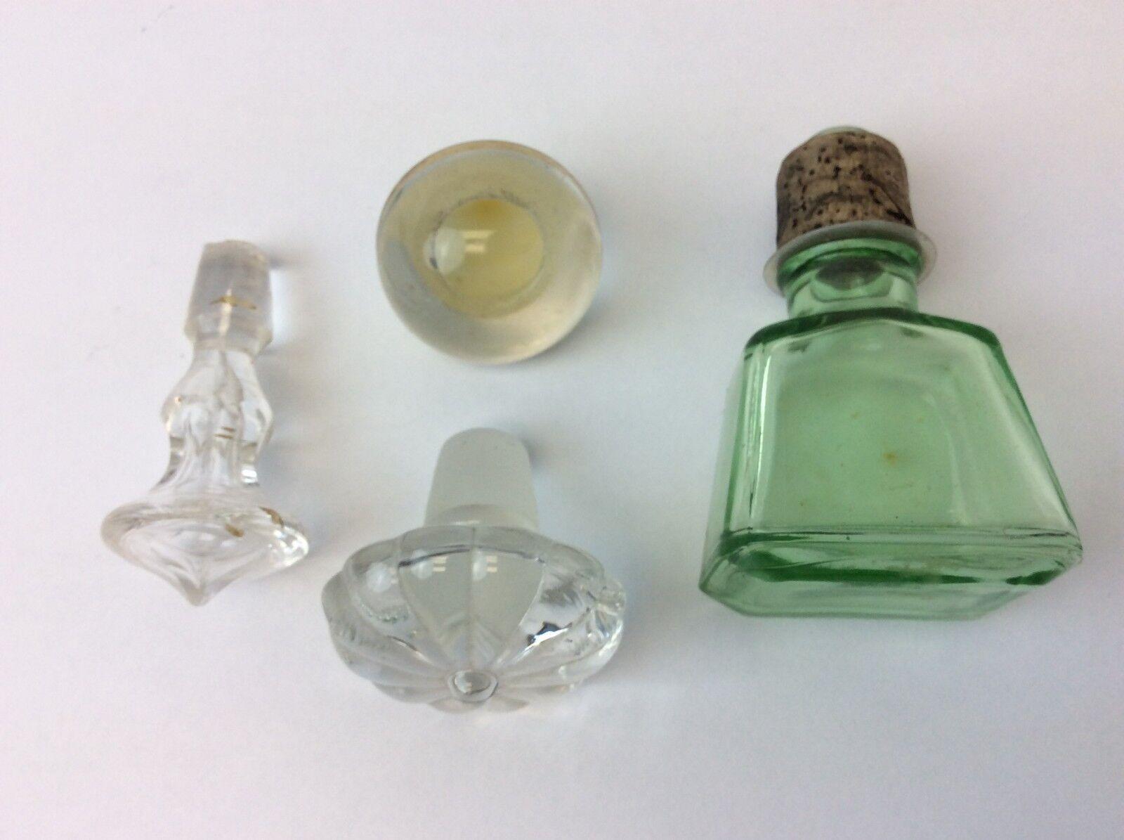 Vintage Gemischte Lot Lot Lot Gebraucht Grün & Klar Glasflasche Oberseiten Toppers | Mittlere Kosten  c4c89c