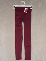 Spanx Look At Me Ribbed Textured Leggings Only 1 Med Maroon Left, Great Buy