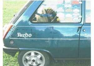 Liserets adhésifs R 5 Alpine turbo conformes à l' origine