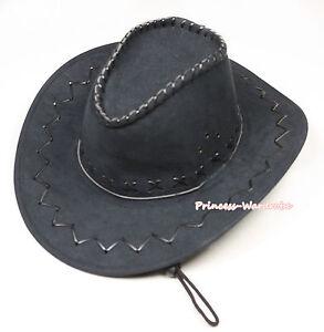 6ead043fbba Teen Adult Size Black Western Cowboy Hat Cattleman Unisex Costume ...