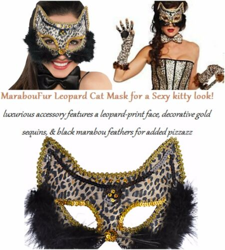 Cat Mask /& Ears On Headband Adult Fancy Dress Masquerade Accessory