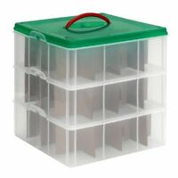 Snapware Snap `n Stack Square Layer Seasonal Ornament Storage Container 13 By 13