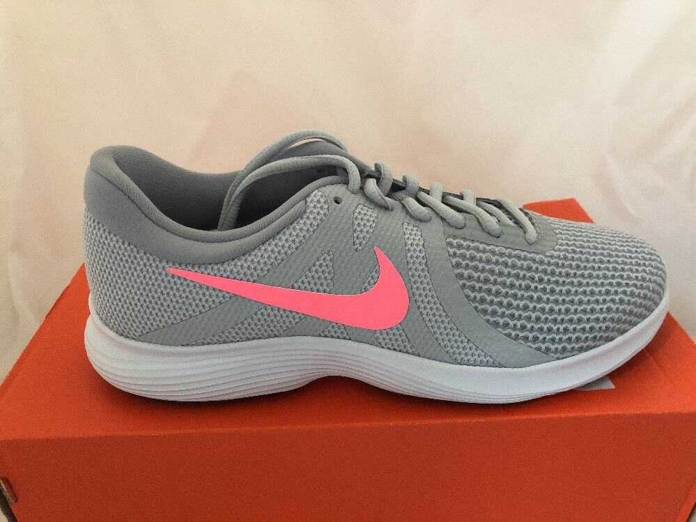 New Womens Nike Revolution 4 Size 9 Grey Pink 908999016 NIB