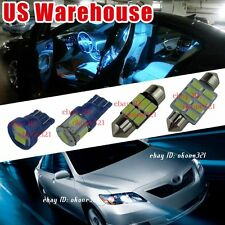 10-pc Aqua Ice Blue LED Light Interior Package Bulb Kit for Toyota Camry 07-2011