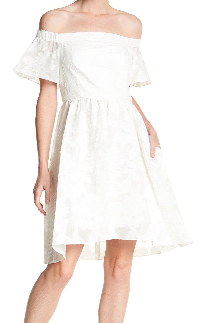 Tibi Women's Istel Fil Coupe Off-the-Shoulder Dress, TSU16ISF13761, White,Size White,Size White,Size 6 3a550e