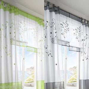 SP-Floral-Voile-Rideau-De-Porte-Fenetre-Piece-Balcon-Panneau-Chambre-Fantaisie