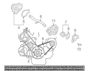 Acura Honda Oem 94 01 Integra 18l Serpentine Drive Alternator Belt