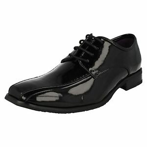 Solde Noir 'a2072' Look Lacets Chaussures À Malvern Habillé Verni Hommes rqpxSrZwz