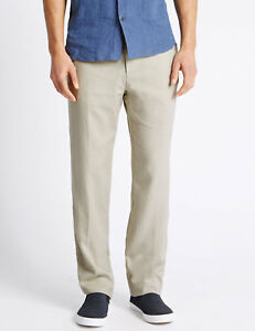 uomo Pantaloni a Marks Big Tall Leg vita da Range 48 della alta Spencer linea 31 RqxCw4