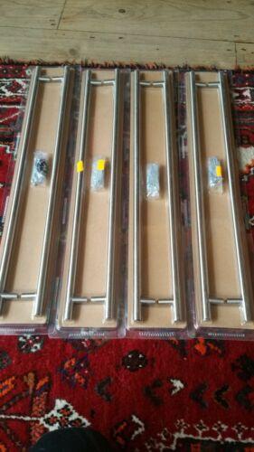 B/&Q  brushed  nickel effect rod handles 416 mm x 8 handles joblot