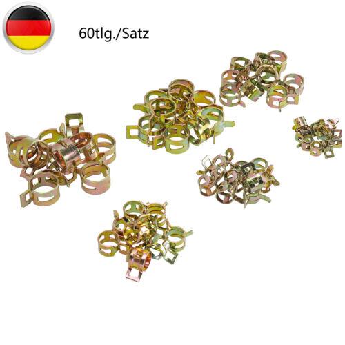 60er Set Stahl Profi-Benzinschlauch Klemmen Benzinklemme Schlauchschelle 6-15mm