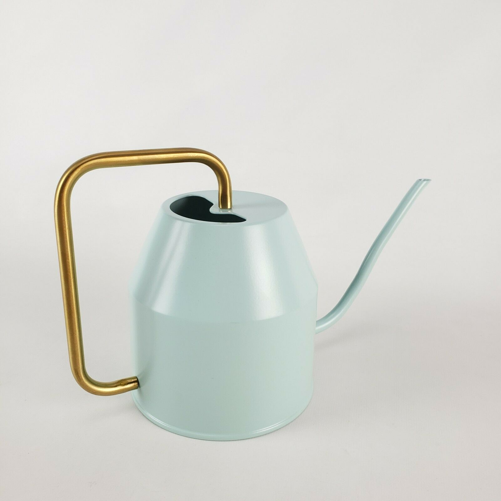 IKEA Vattenkrasse Watering Can Indoor/Outdoor Light Turquoise/Gold New 6x10x4.5