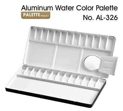 HEUNG IL Aluminum Watercolor Palette 13,20,26,30,35,39,65 Compartments Painting