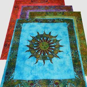 Tagesdecke-Bettueberwurf-Sternzeichen-Dekotuch-Bettueberwurf-Indien-Wandbehang