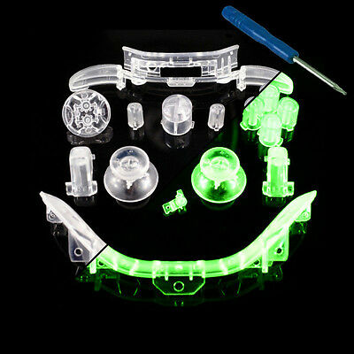 Xbox 360 GLOW-in-the-DARK Thumbstick/D-pad/buttons/Triggers/Bumpers/Mic Trim set