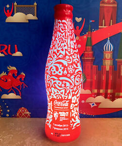 LED Light Bottle Coca-Cola with backlight. Olympic Games in Sochi 2014.