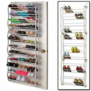 NEW-12-TIER-36-PAIRS-BAR-OVER-THE-DOOR-SHOE-STAND-ORGANIZER-RACK-SHOES-STORAGE