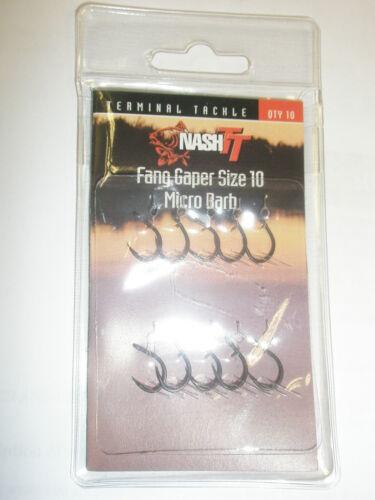 Nash Fang Gaper Hooks 10pk ALL VARIETIES Carp fishing tackle