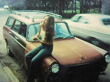 VINTAGE ARTISTIC POLAROID RED HEAD GIRL RED WAGON FAST LANE LOST N FOUND PHOTO