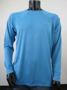 Men's Clothing Columbia Pfg Long Sleeve Shirt Upf 40 Riptide Blue Mens Medium Without Return