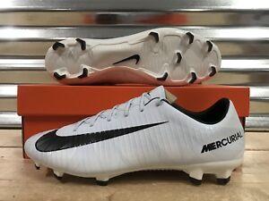 8d3204dac6ee Nike Mercurial Veloce III CR7 FG Soccer Cleats White Blue Tint SZ ...
