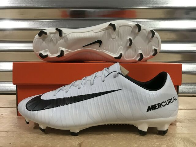 new concept 4dc58 4957d Nike Mercurial Veloce III CR7 FG Soccer Cleats White Blue Tint SZ (  858736-401