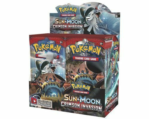 Pokemon Sun and Moon Crimson Invasion Booster Packs IN STOCK 3 Booster Packs
