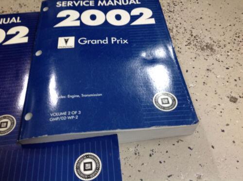 2002 Pontiac Grand Prix Service Shop Repair Workshop Manual Set FACTORY OEM