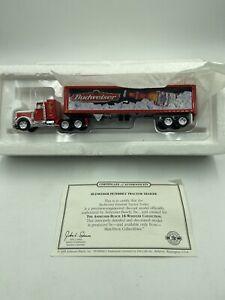 Matchbox-Collectibles-Budweiser-Peterbilt-Tractor-Trailer-w-COA-DYM36670-RARE