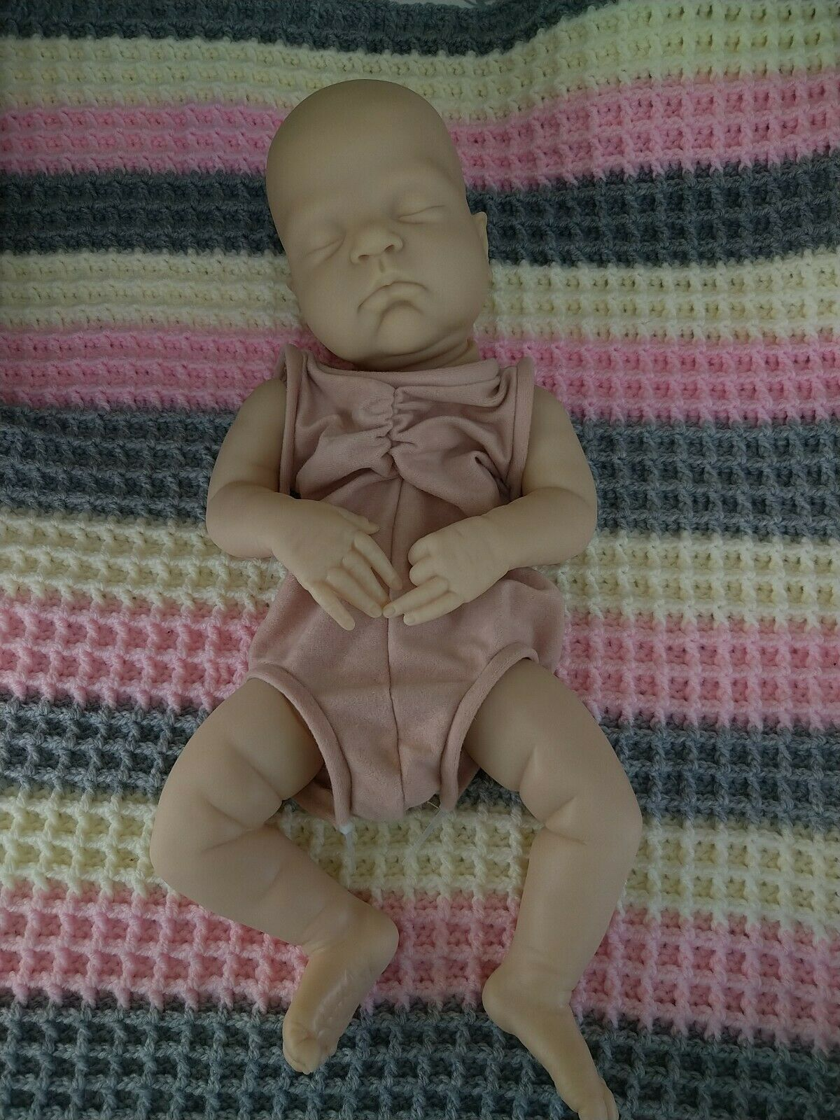 """Reborn doll kit """"Remi"""" by Cassie Brace New with cloth body and layette"""
