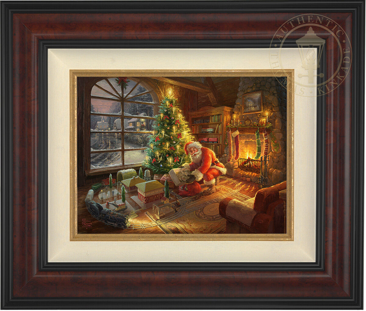 Thomas Kinkade Lionel Santa's Special Delivery 12 x 16 LE S N Canvas Framed