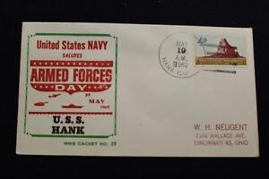 Navale-Cover-Beck-1962-Nave-Annullo-Postale-Armate-Forze-Giorno-Uss-Hank-DD-702